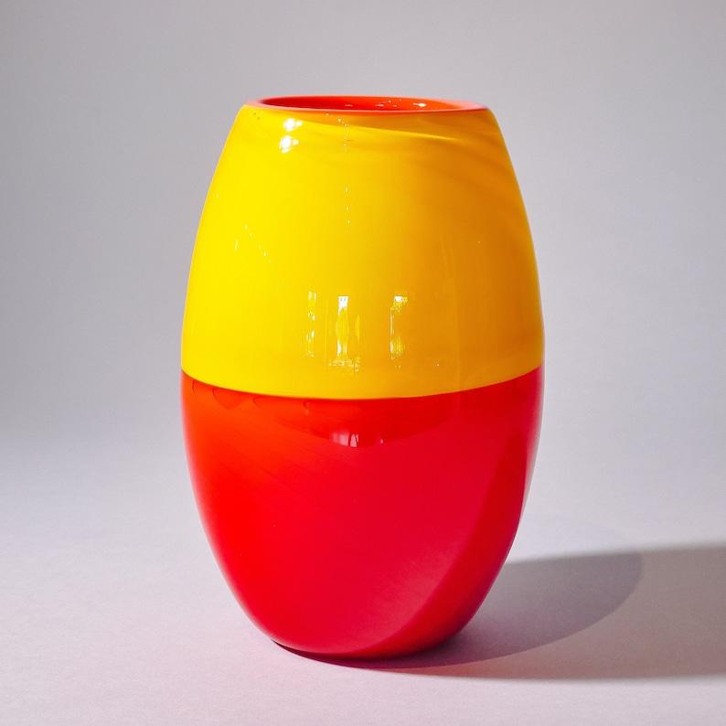 Blown Glass Vase Daybreak by Ian Freas