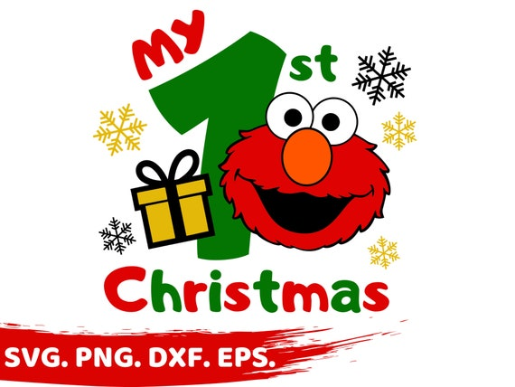 My First Christmas Svg Cookie Monster Svg Elmo Svg Christmas Svg 1st Christmas Svg Cookie Cricut Christmas T Shirt Sesame Street Svg