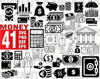 Money bag clipart | Etsy