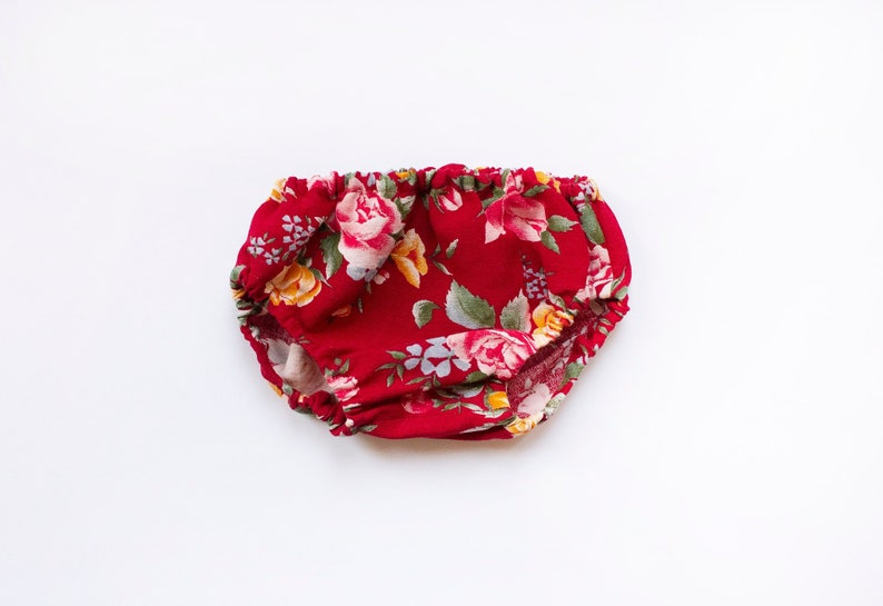 Baby bloomers in floral fabric Linen baby clothes Baby image 0