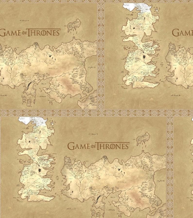 Game of Thrones tan map Dog Bandana