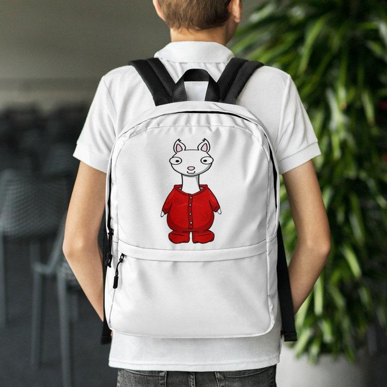 llama red pajama Backpack