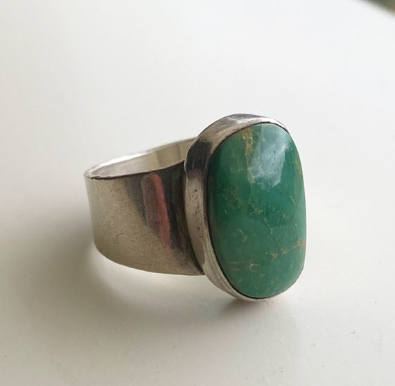 Caribbean Sea Sterling silver turquoise ring 7.5