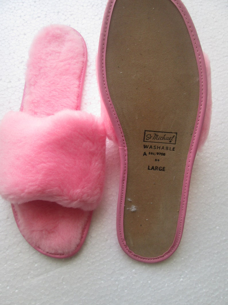4be7248dc0b75 Vintage Mule Slippers Size Large UK 7 EU 40 USA 9.5 St Michael ( Marks and  Spencer ) 1960's New