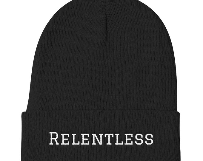 Relentless Embroidered Beanie