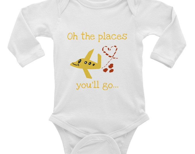 Lil' Globetrotter Infant Long Sleeve Bodysuit