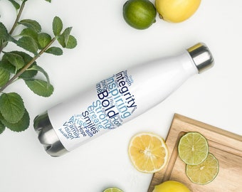 Tropical Rainforest Stainless Steel Water bottle