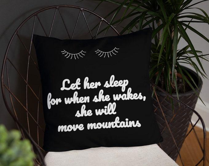Let her sleep Basic Pillow