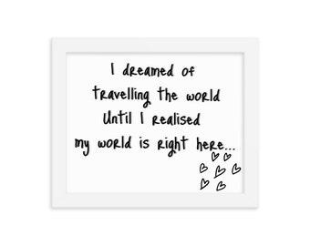 Traveller's dream Framed poster