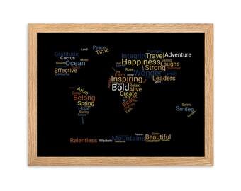 Word-It World Framed matte paper poster