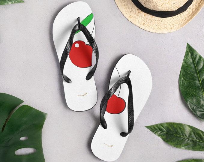 Cherry Vacay Flip-Flops