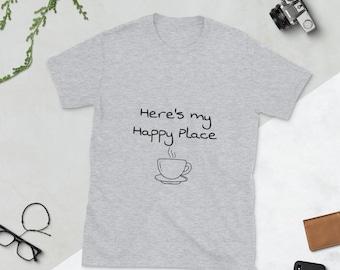 Happy Place Cafe Short-Sleeve Unisex T-Shirt