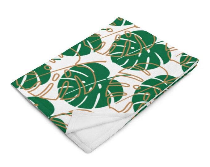 Leafy notions Throw Blanket