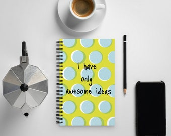 Awesome Scribbles Spiral notebook