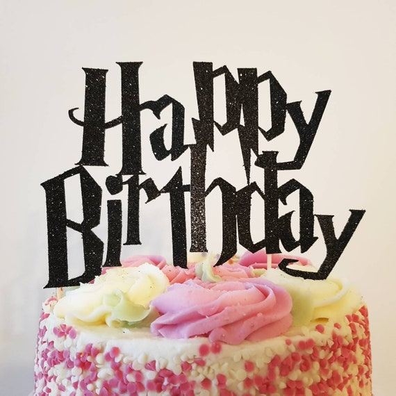 Harry Potter Birthday Cake Topper Happy