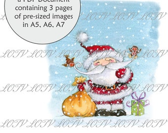 James the Bear Peeping CG 3 Page PDF Ready to Print Document Lili of the Valley Full Colour Simply Print Digital