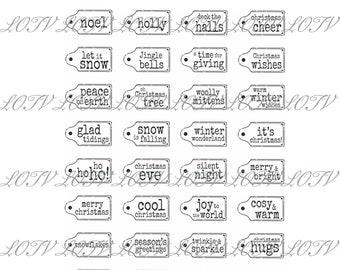LOTV Digi Stamp Set- Christmas Sentiment Tags, Digital