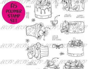 Perfect Patisserie - A5 Polymer Stamp Set - LOTV Advanced Order