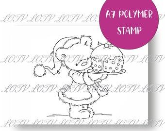 LOTV Polymer Stamp - IH - Teddy Pudding