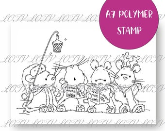 LOTV Polymer Stamp - IH - Christmouse Carols