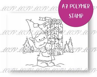 LOTV Polymer Stamp - IH - Festive Gnome - Christmas Gift