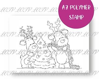 LOTV Polymer Stamp - IH - Festive Reindeer