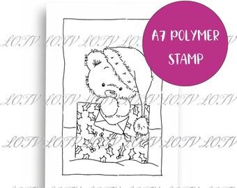 LOTV Polymer Stamp - IH - Festive Ted