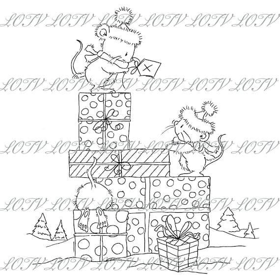 Christmas GC Snow Digital Festive Xmas Christmas Friends Noel JPEG Lili of the Valley Digi Stamp
