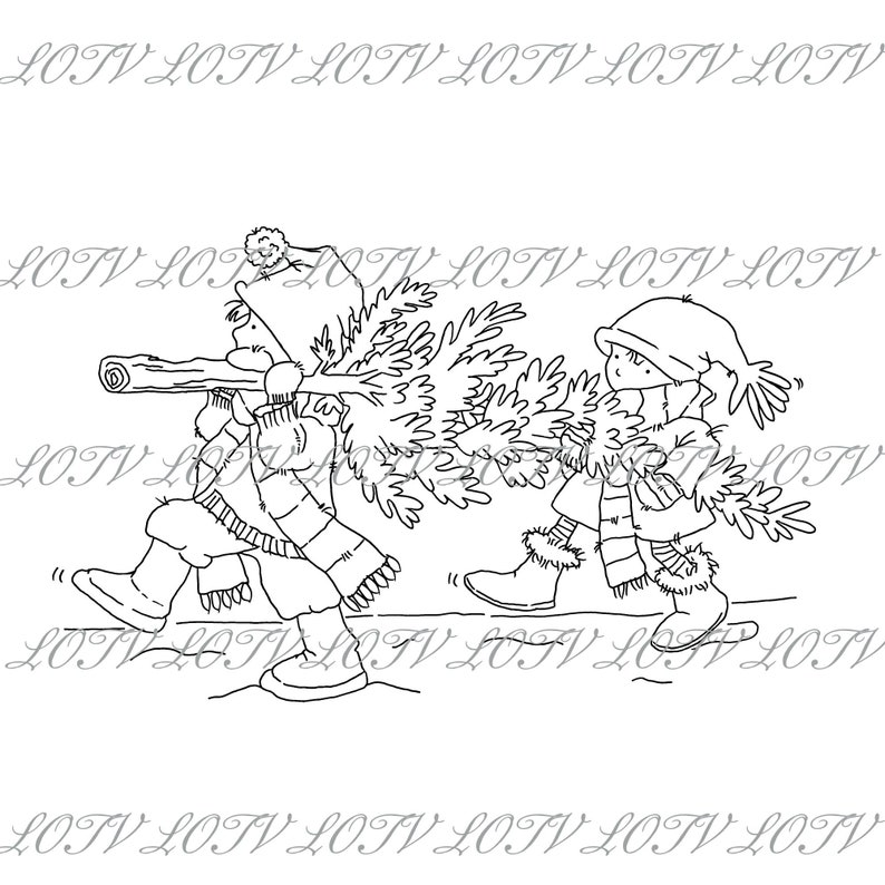 Lili of the Valley Digi Stamp  AS  Coming Home JPEG PNG image 0