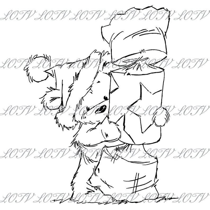 Lili of the Valley Digi Stamp  CG  James  Christmas image 0