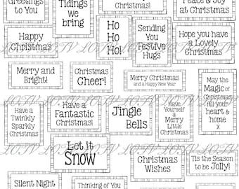 LOTV Digi Stamp Set - Simple Festive Greetings, Digital