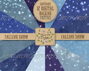 LOTV Backing Paper Set - KR - Falling Snow, Digital