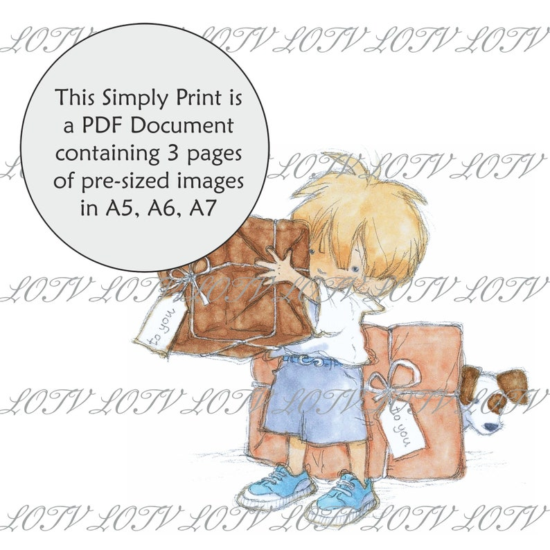 AS 3 Page PDF Ready to Print Document Digital Big Present Lili of the Valley Full Colour Simply Print