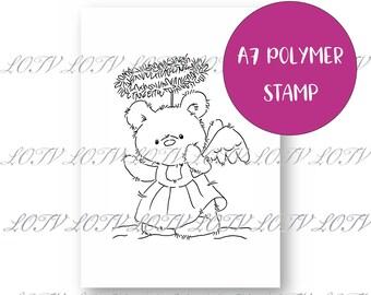 LOTV Polymer Stamp - IH - Angel Bear