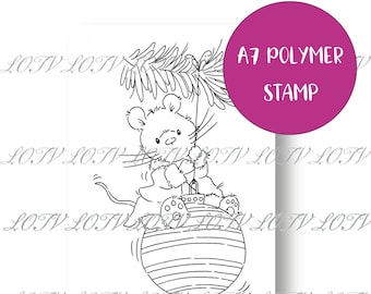 LOTV Polymer Stamp - IH - Christmouse Bauble