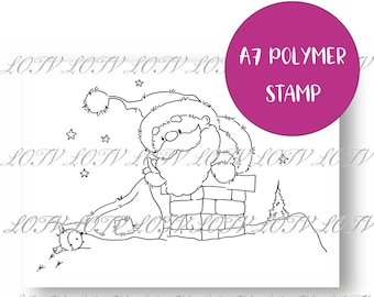 LOTV Polymer Stamp - IH - Rooftop Santa