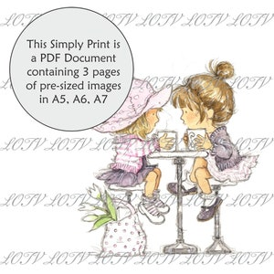 Digital CG Lili of the Valley Full Colour Simply Print 3 Page PDF Ready to Print Document James Christmas Stocking
