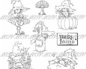 LOTV Digi Stamp Set - AS - Magical Halloween Bundle, Digital