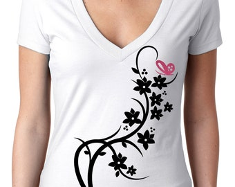 2a690bd56ef7 Arabesque T-shirt with glitter butterfly raspberry color