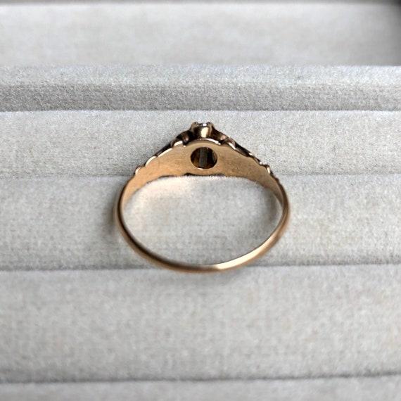 Victorian diamond engagement ring, diamond solita… - image 6