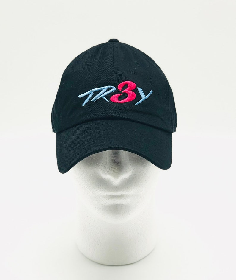 the latest efa0f 914cc TR3Y BLACK MIAMI VICE six panel unstructured baseball cap   Etsy