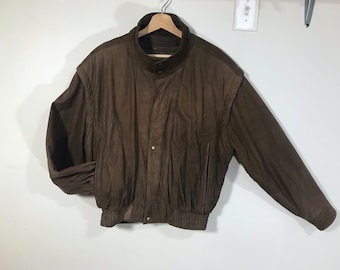 6e6b88a37b6 Vintage Adventure Bound by Wilsons Leather Bomber Jacket w Thinsulate -  Small