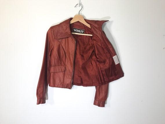 Vintage Full-Grain Leather 100% Red Maroon Burgund