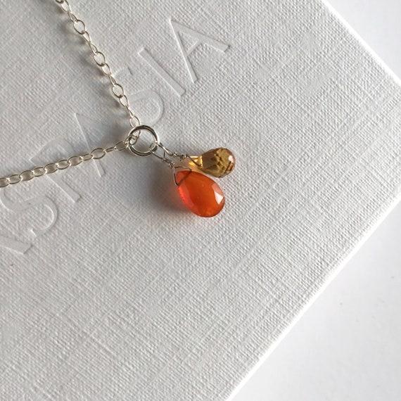 feminine necklace beaded necklace casual necklace Handmade necklace dainty necklace red necklace pendant necklace everyday necklace