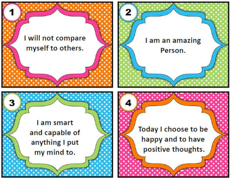picture regarding Printable Positive Affirmations identified as 101 Printable Confident Affirmations for Small children, self assist for small children, confirmation playing cards, self esteem designing for small children, guaranteed parenting