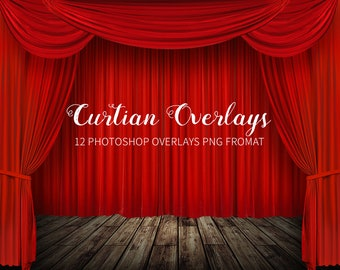 Red Theater Curtains Etsy
