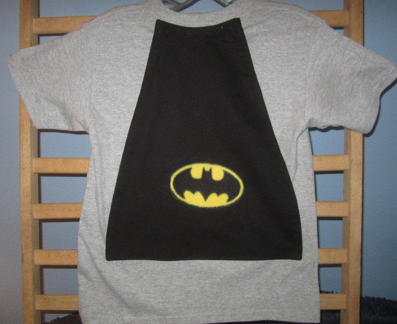 e090addc Batman T Shirt with Detachable Cape Embellished D C Comics | Etsy