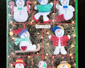 Butterick 5228 Christmas Snowman Ornaments Uncut Sewing Pattern Size One Size