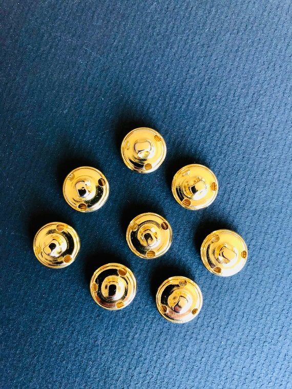 Basketweave with Shank Sewing Supply De Stash Woman/'s Knits Dress Blouse Small Gold Flower Buttons 11 x 1.5cm Baby Wear Dolls Clothes