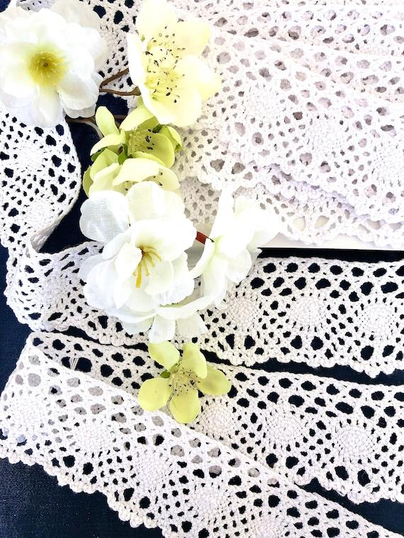 2.5m Baby Pink Cotton soft scallop design Lace Edging Trim